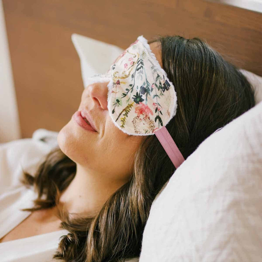 Vintage Floral Sleep Mask