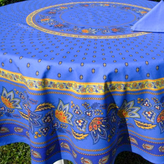 Lisa Round Tablecloth Blue