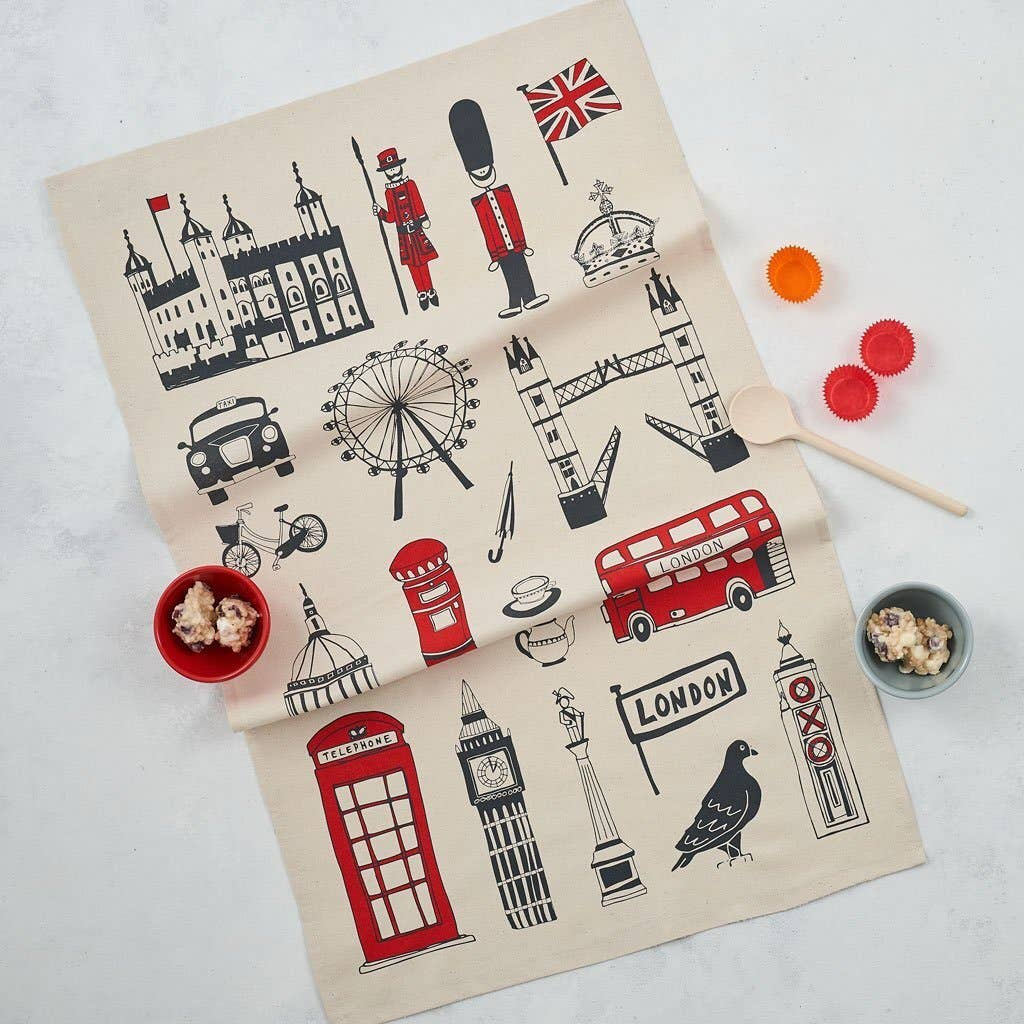Big Smoke London Icons Tea Towel