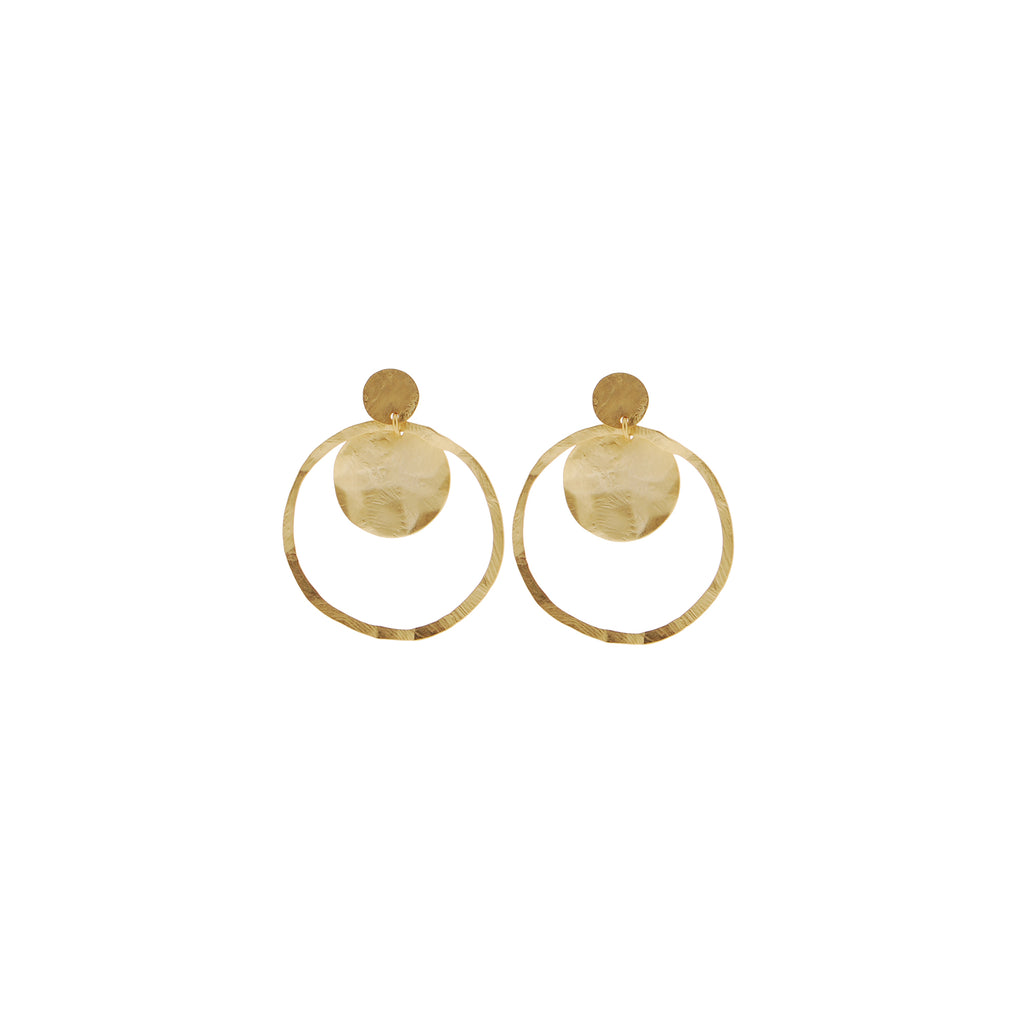 Aire Earrings Matte Gold