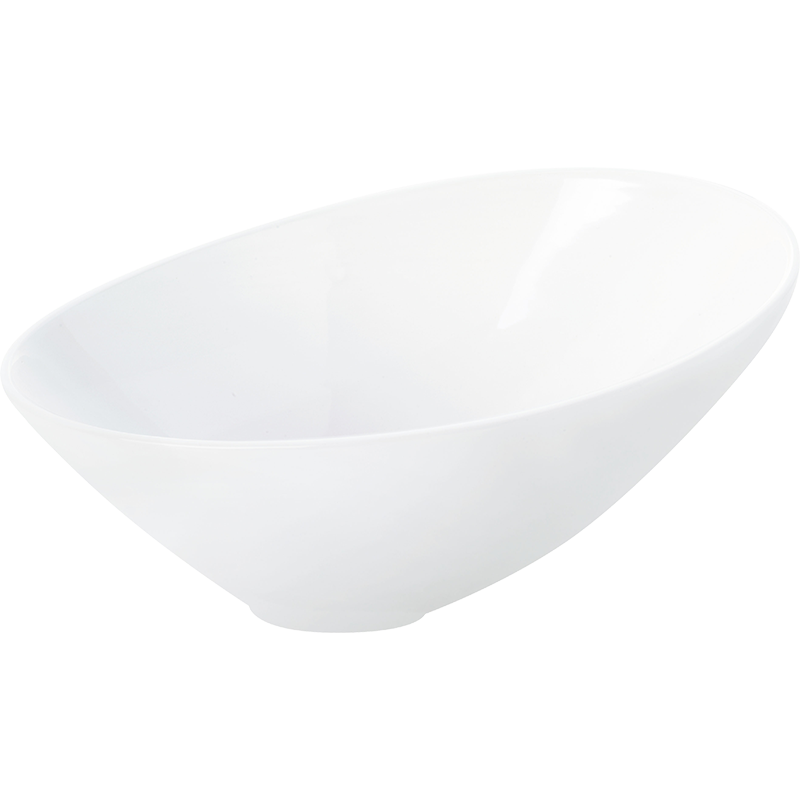 Asymmetric Bowl White