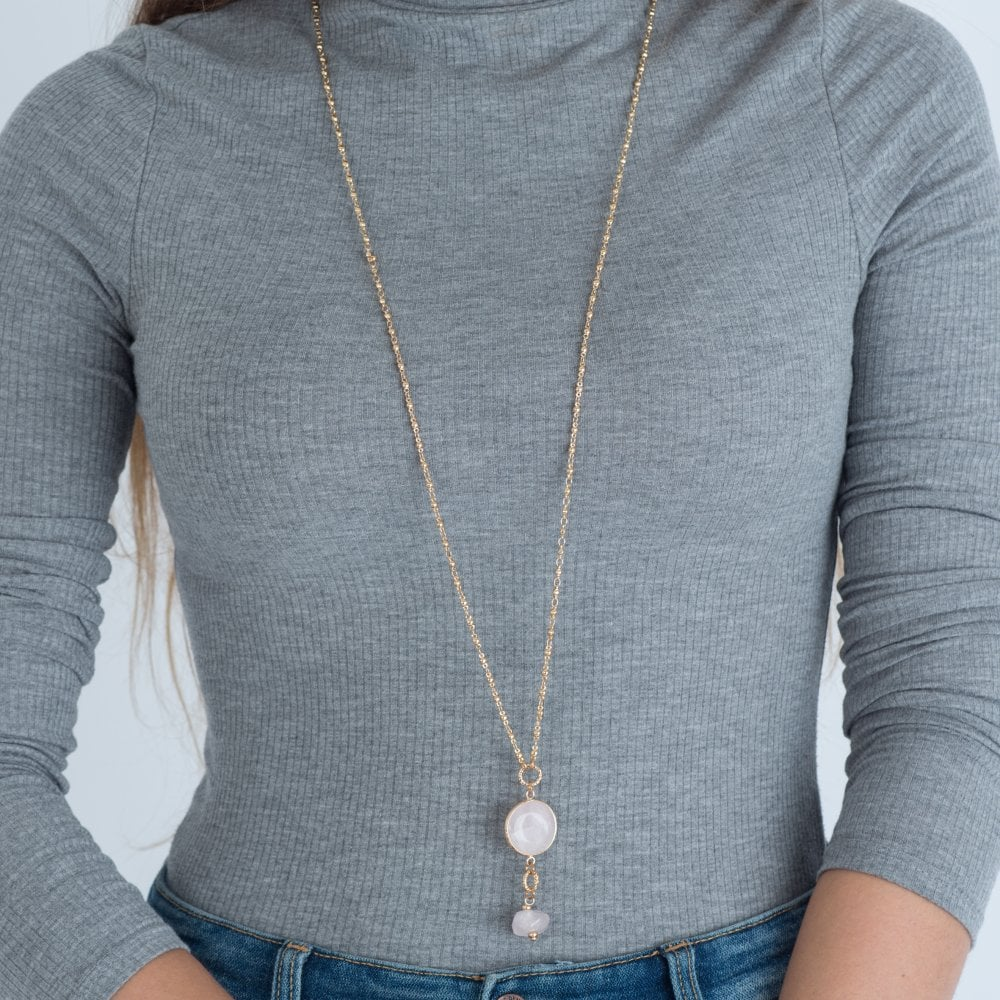 Avantika Rose Quartz Necklace