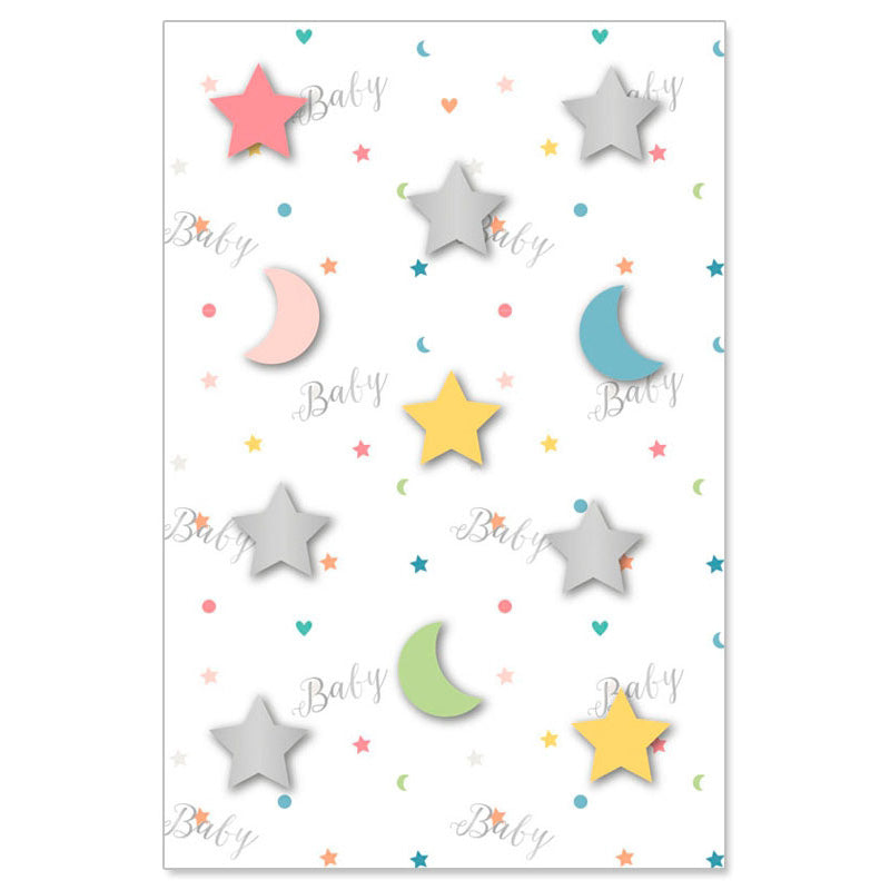 Artebene Moon and Stars Baby Greeting Card