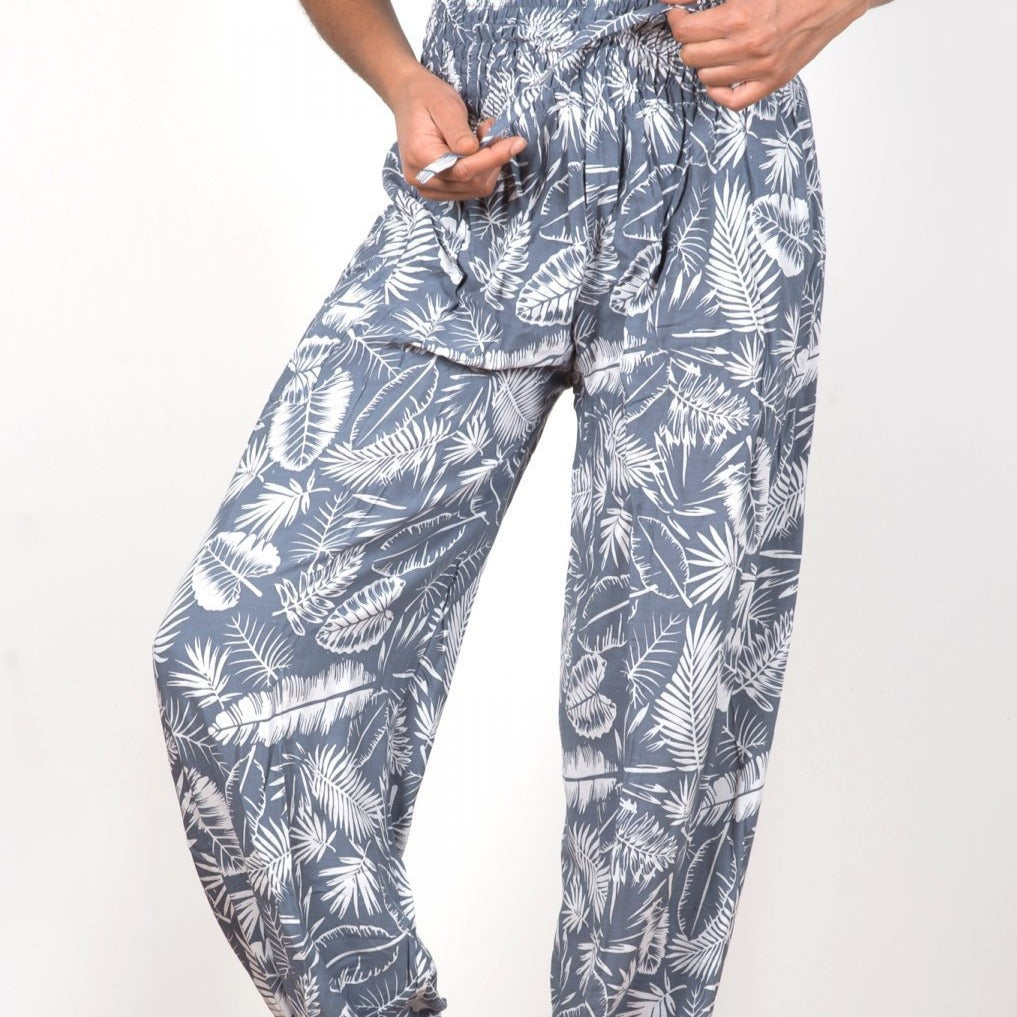 Bali Pants Grey Palm