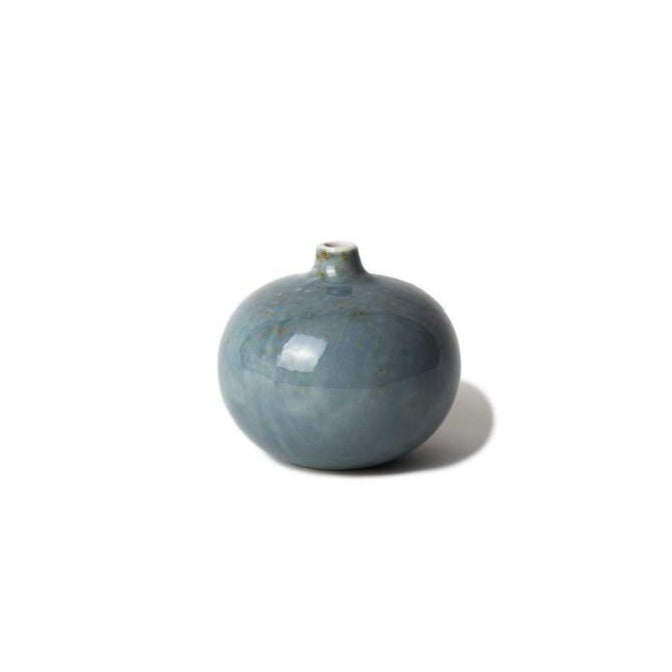 Bari Small Vase Light Blue Freckles Lindform