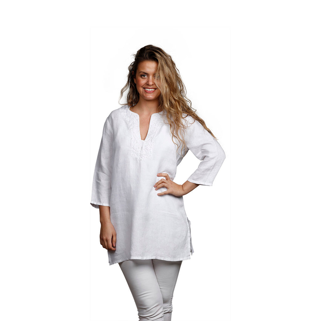 Belle Tunic White