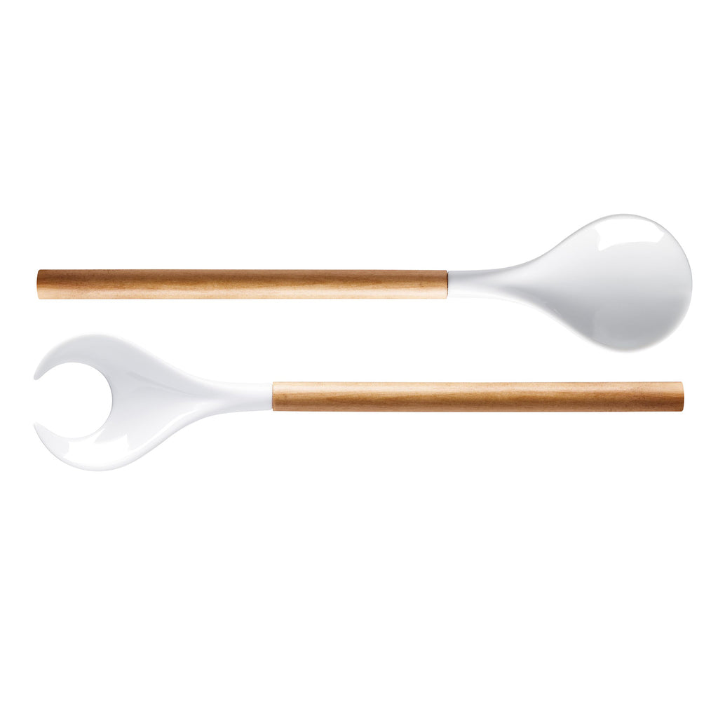 Birch Wood Salad Servers