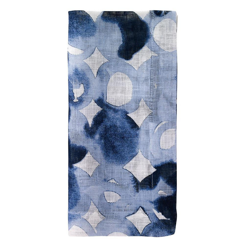 Blue Watermark Napkin