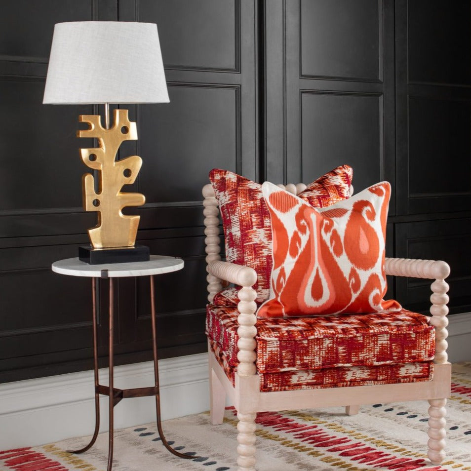 Coral IKAT Pillow