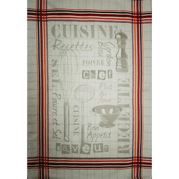 Cuisine Beige French Tea Towel