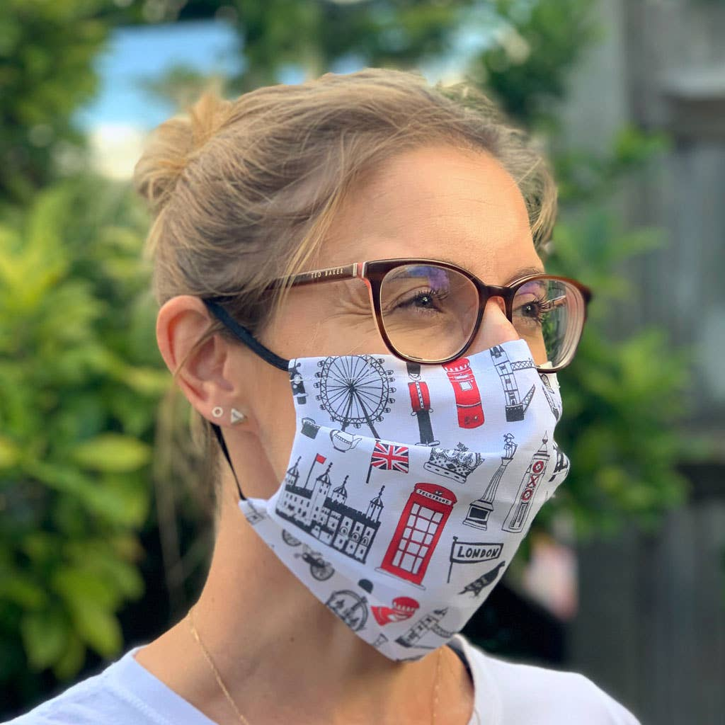 London Pleated Face Mask