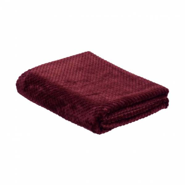 la Maison de Lilo Fluffy Throw Blanket in Burgundy