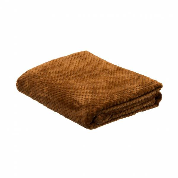 la Maison de Lilo Fluffy Throw Blanket in Camel