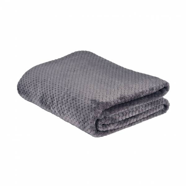 la Maison de Lilo Fluffy Throw Blanket in Grey Galet