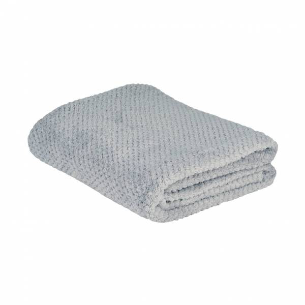 la Maison de Lilo Fluffy Throw Blanket in Pearl Grey Gris Perle