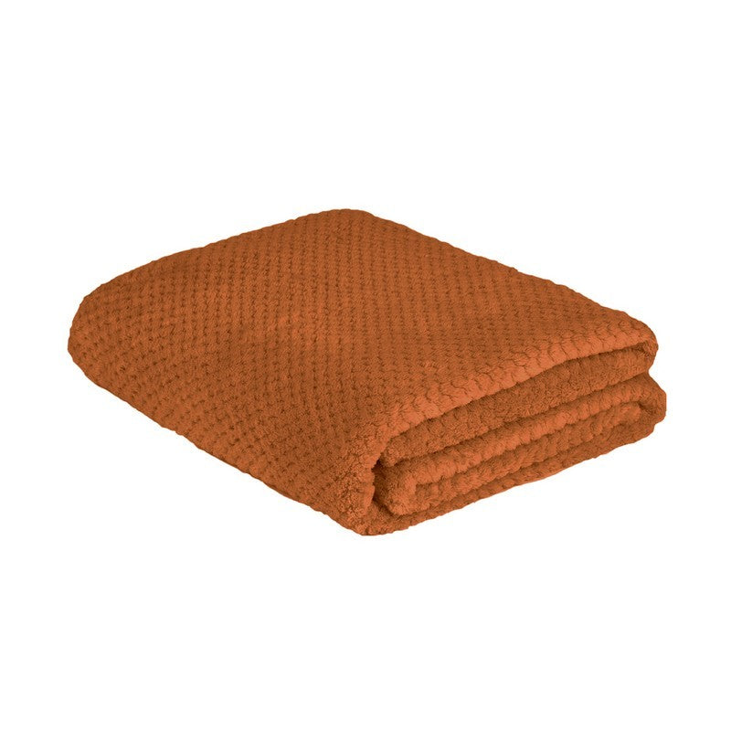 la Maison de Lilo Fluffy Throw Blanket in Rust
