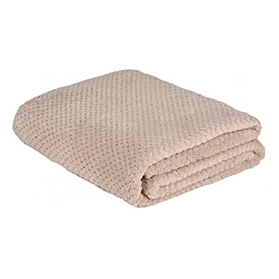 la Maison de Lilo Fluffy Throw Blanket in Sable Sand