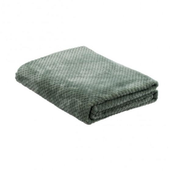 la Maison de Lilo Fluffy Throw Blanket in Soft Green