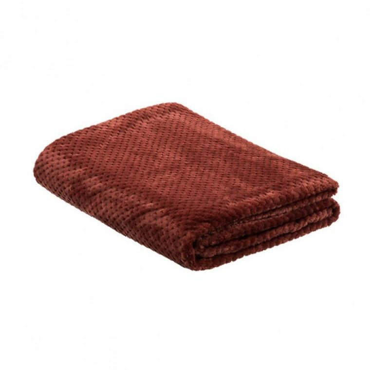 la Maison de Lilo Fluffy Throw Blanket in Tomate Tomato