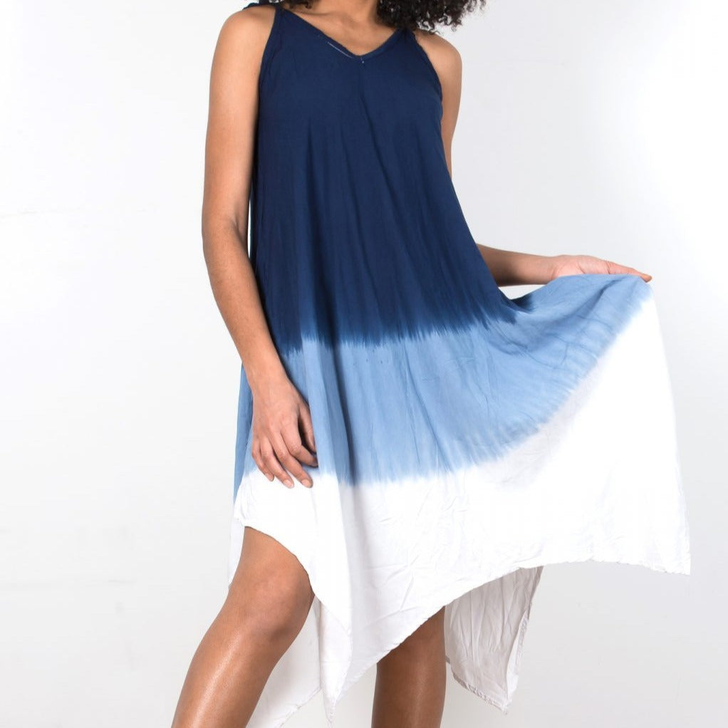 Handkerchief Dress Blue Ombre