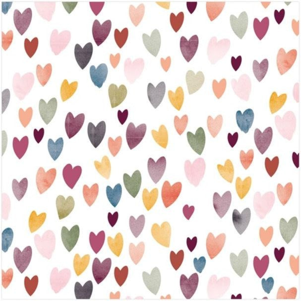 Heart Cocktail Napkins Multi