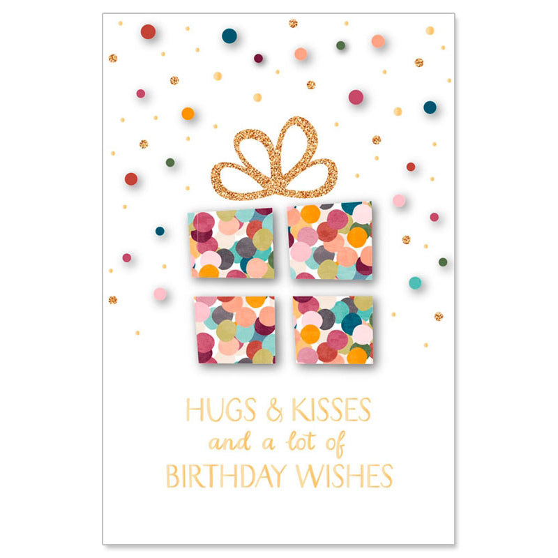 Hugs and Kisses and a lot of Birthday Wishes Greeting Card