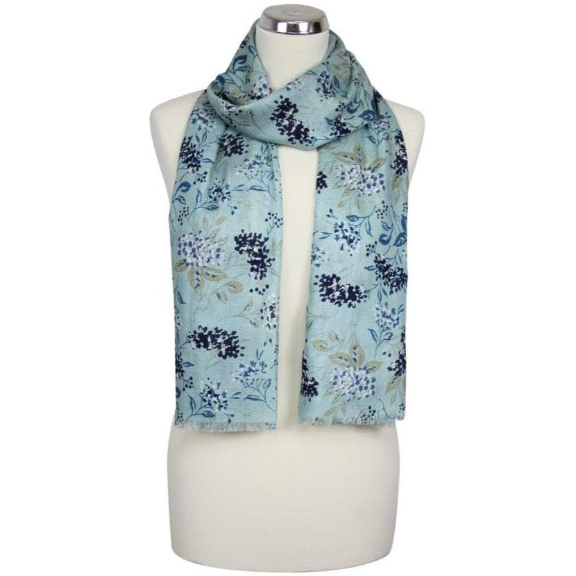 Hydrangea Scarf in Light Sage