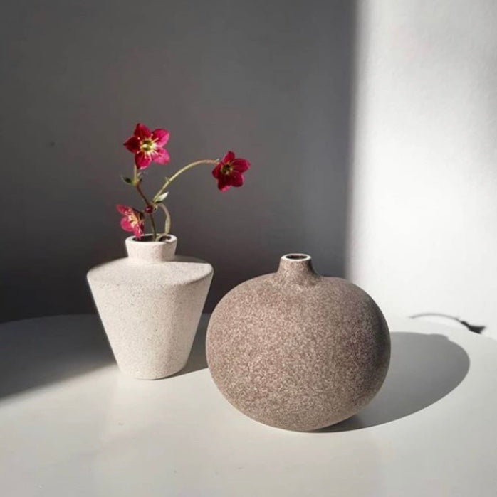 Bari Medium Vase Dark Sand Lindform