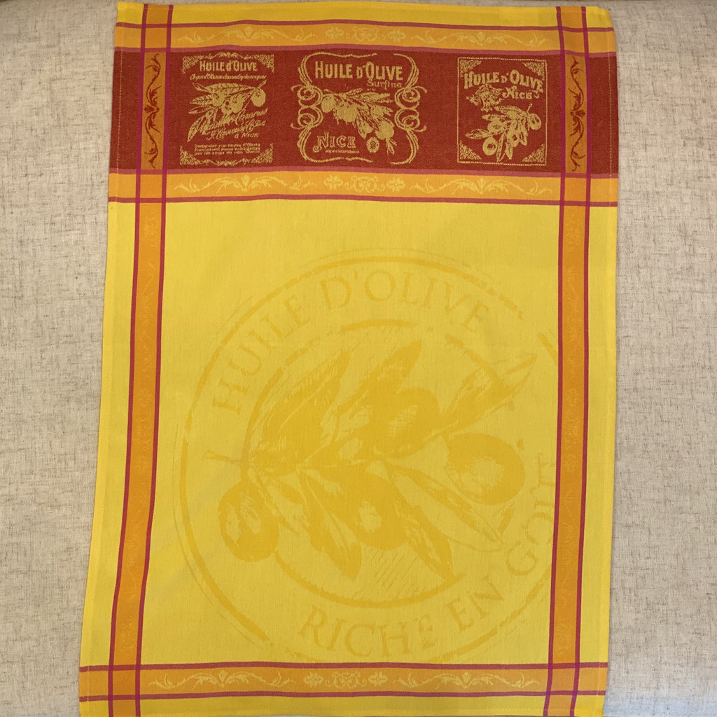 Picholine Yellow Tea Towel Sud Etoffe