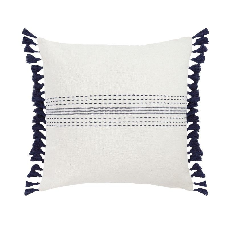 Imad Blue Square Pillow