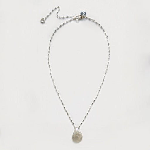 Isabella Silver Grey Seashell Necklace