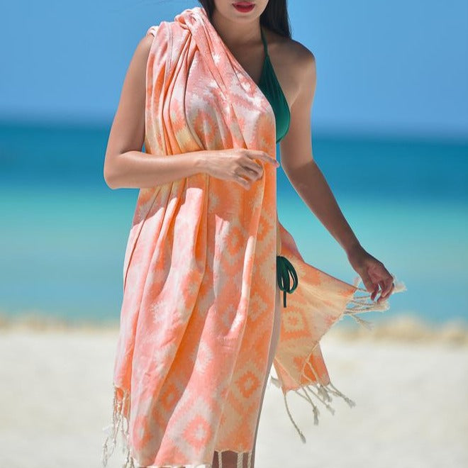 Joy Orange Turkish Towel