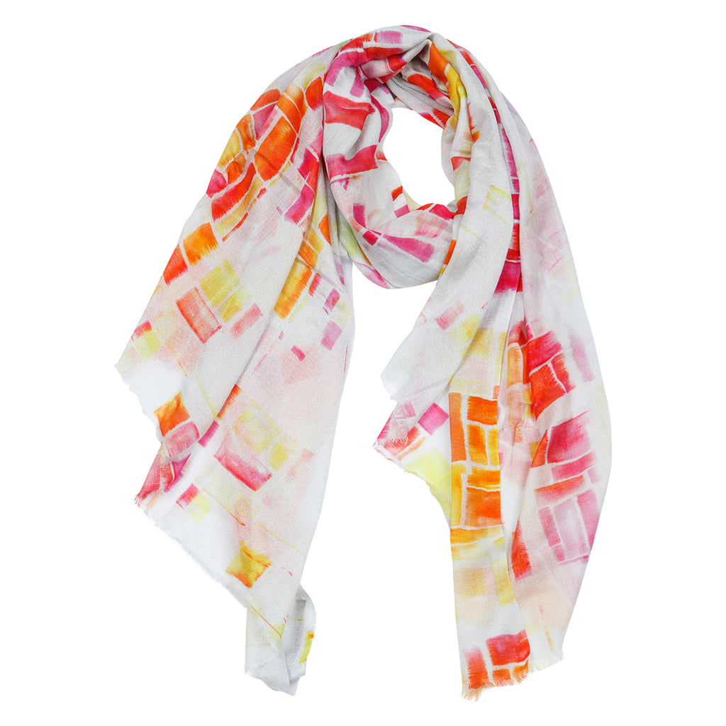 Kaia Scarf Pink and Orange