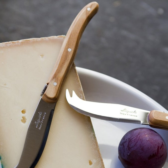 Laguiole Mini Olivewood Fork Tipped Cheese Knife
