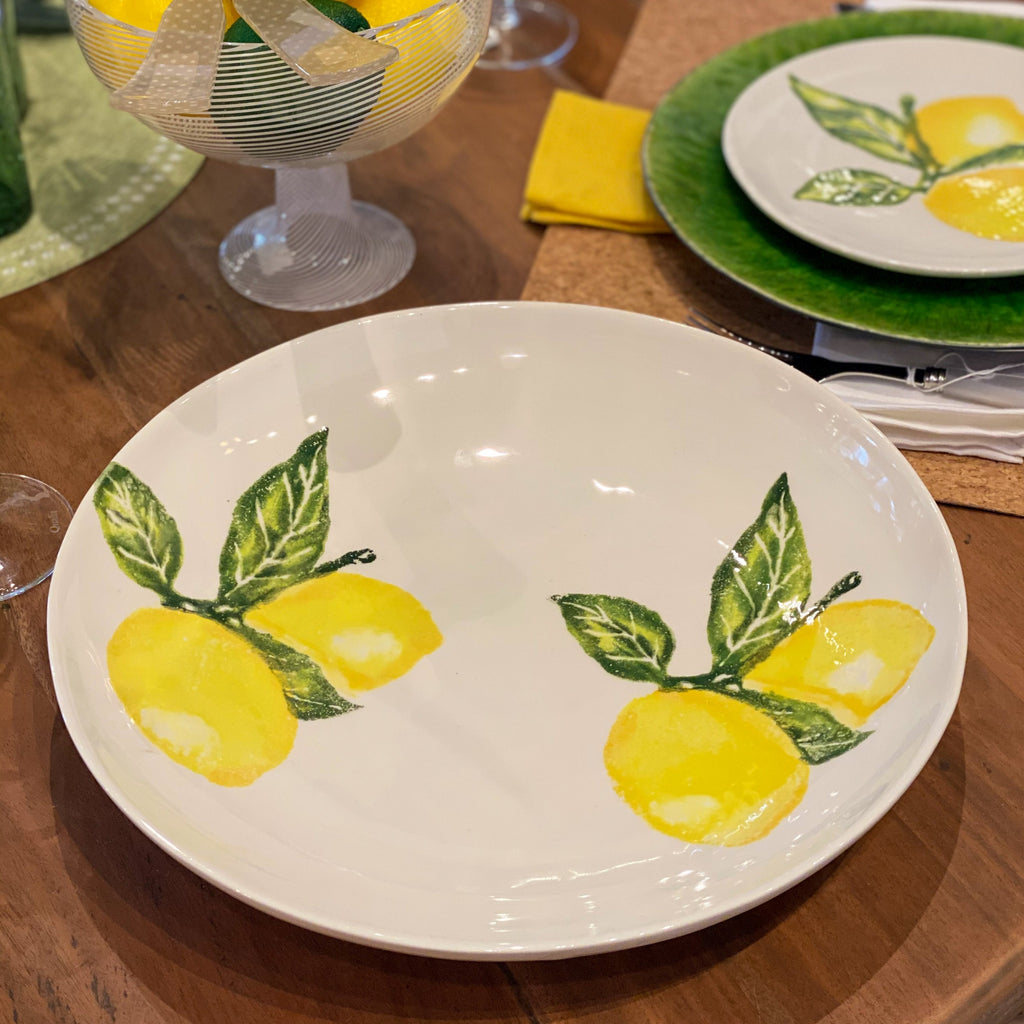 Lemons Large Serving Dish