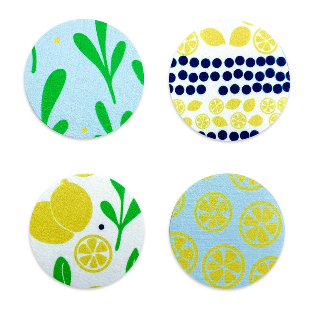 Lemons and Leaves Coaster Set
