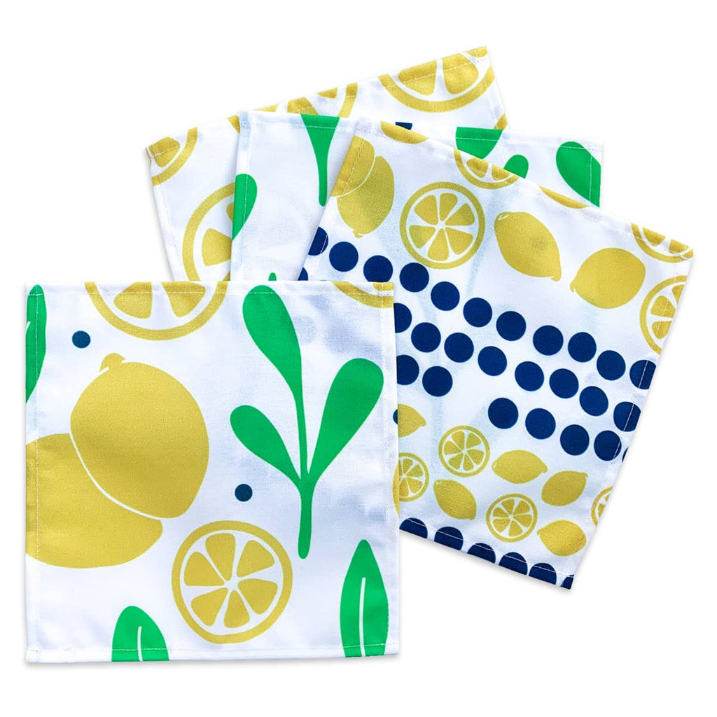 Lemons and Leaves Cocktail Napkins