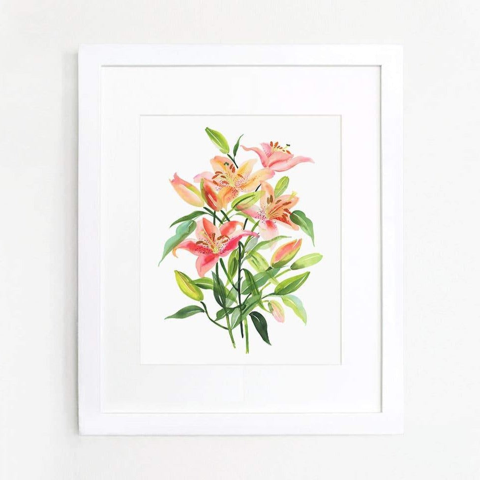 Lily Bouquet Art Print