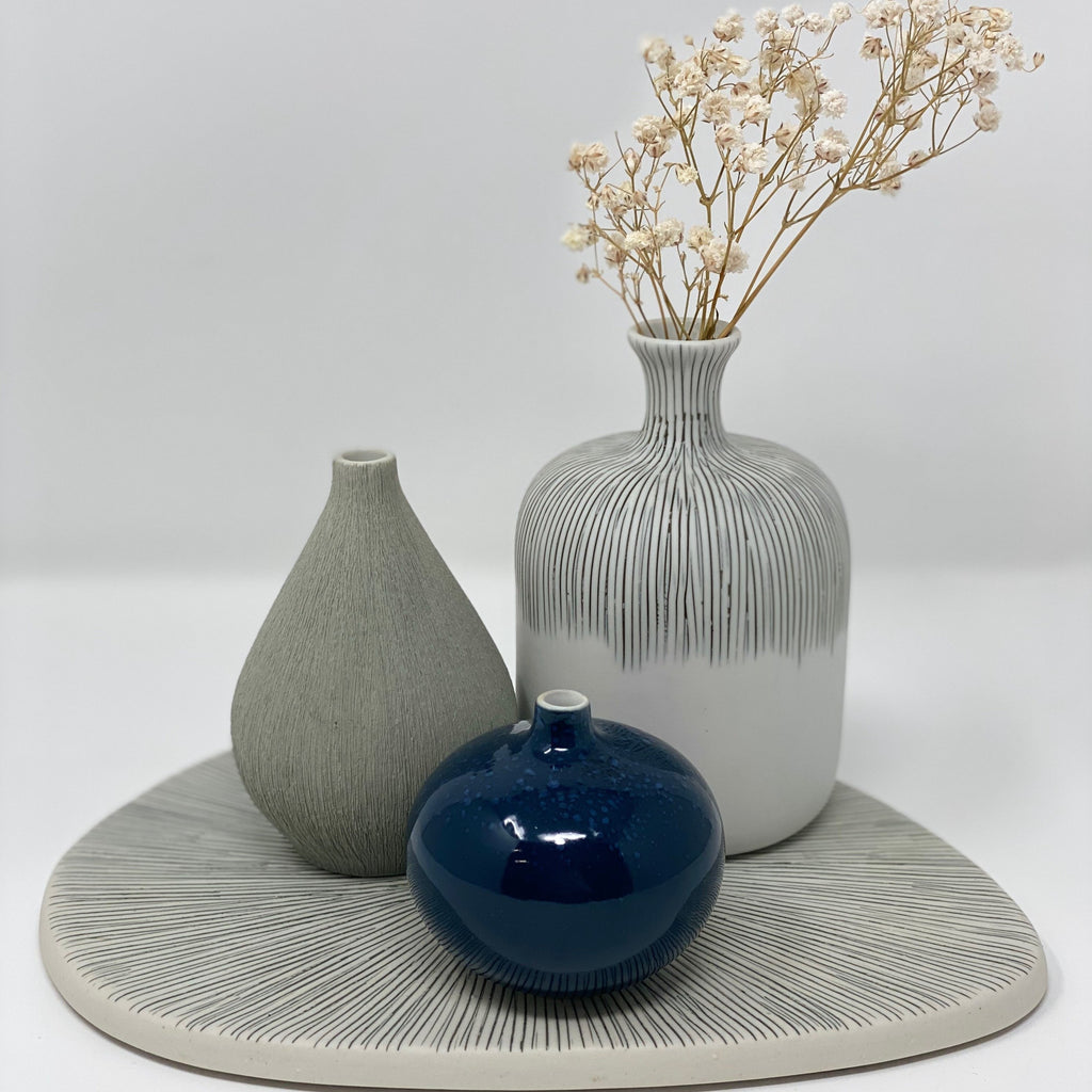 Trio of Vases on Plate Lindform