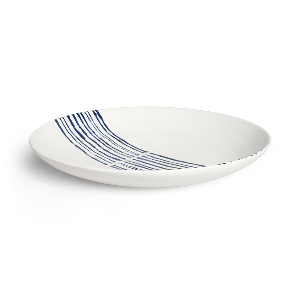 Indigo Linear Serving Bowl