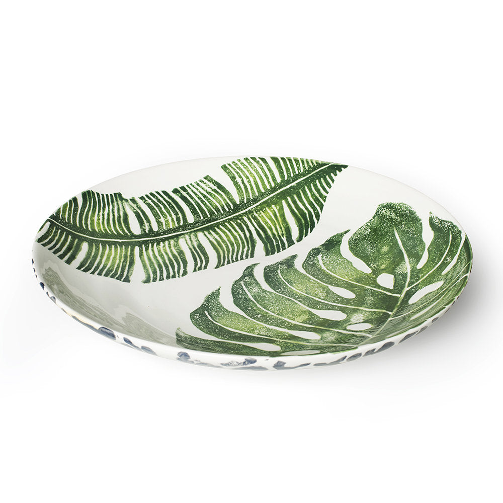Mixed Leaves Large Serving Bowl