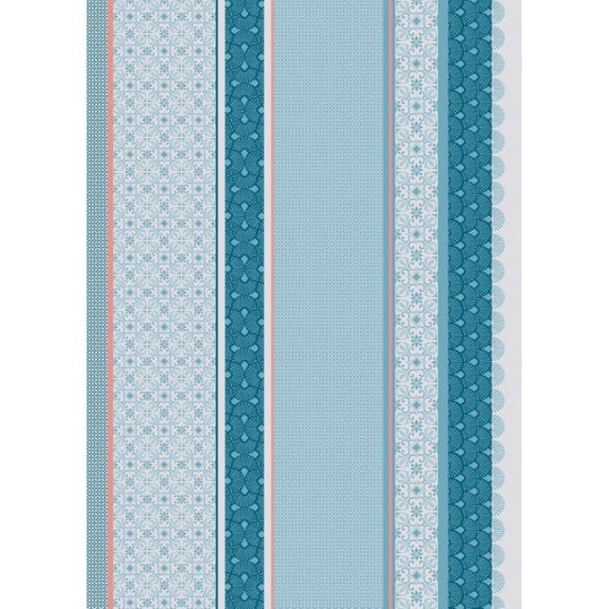 Moderne Blue French Tea Towel Sud Etoffe
