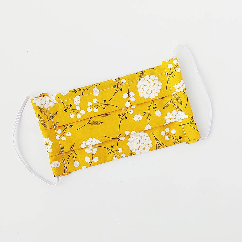 Mustard Floral Face Mask