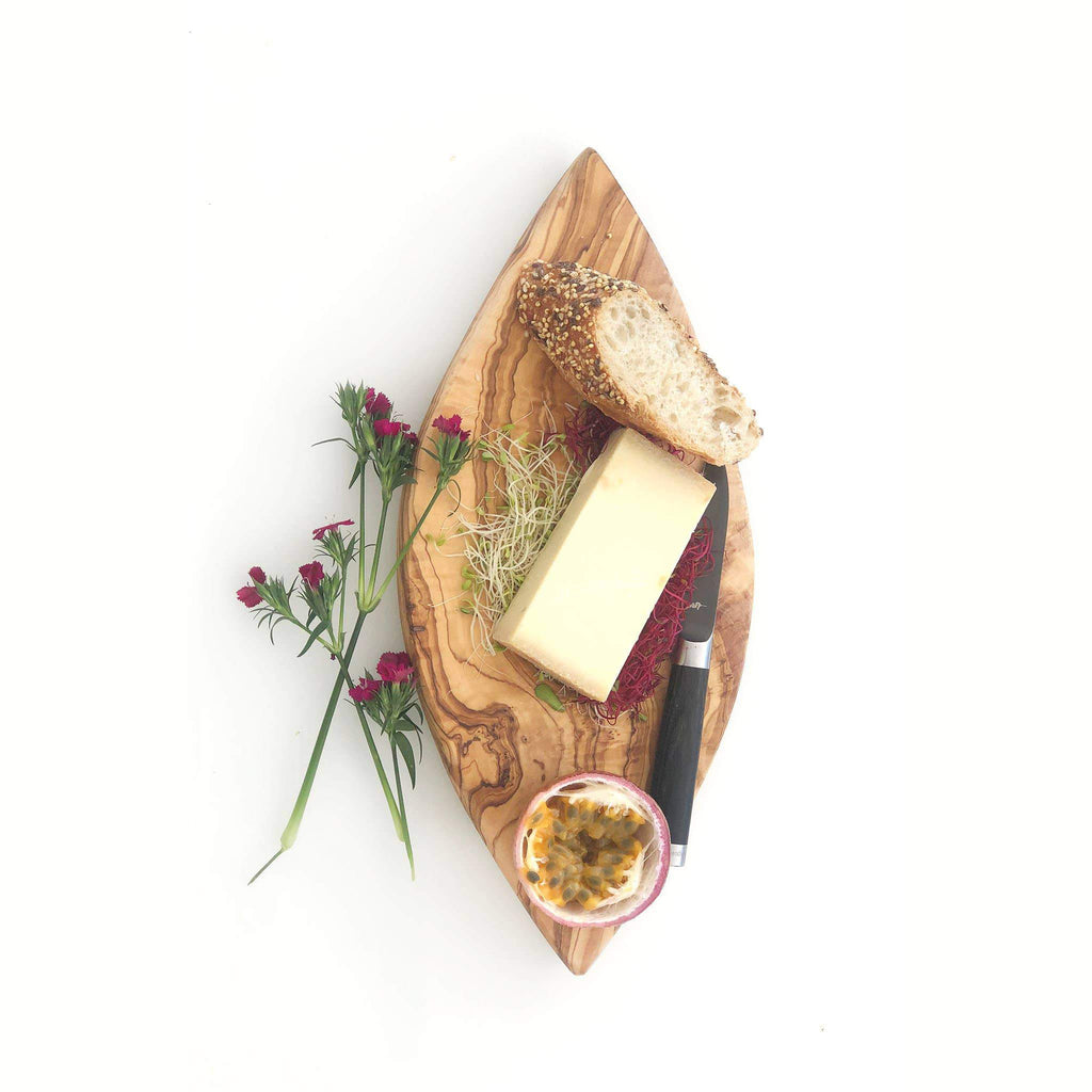 Olivewood Fish Shape Cheese Board