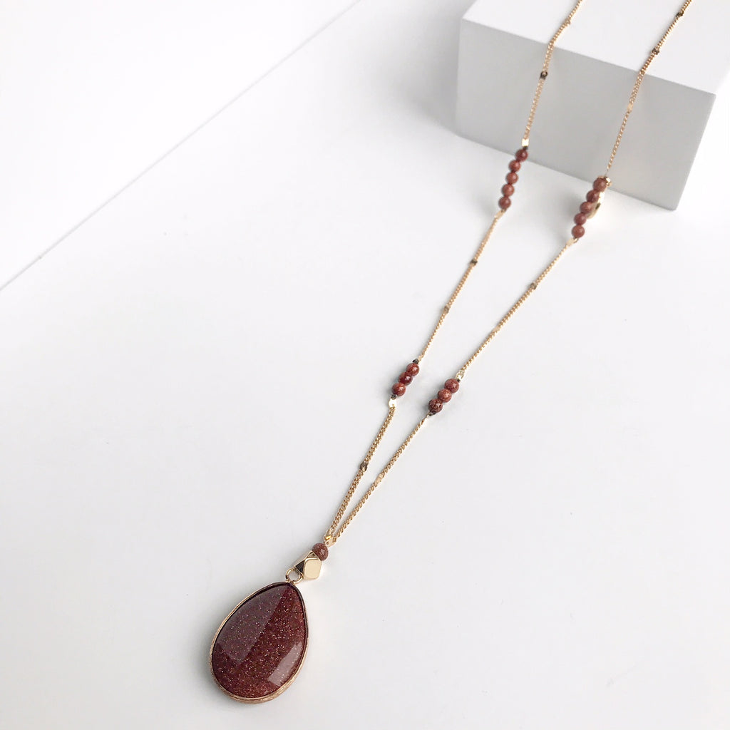 Olivia Caramel Sandstone Necklace