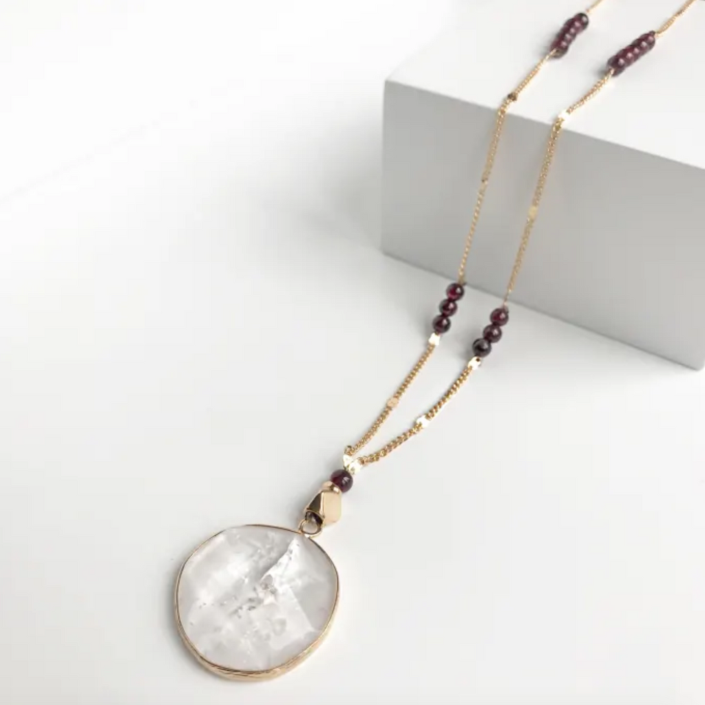 Olivia Garnet Necklace