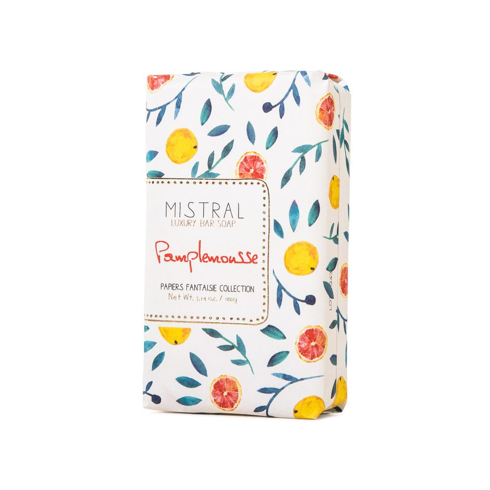 Pamplemousse Papiers Fantaisie French Bar Soap