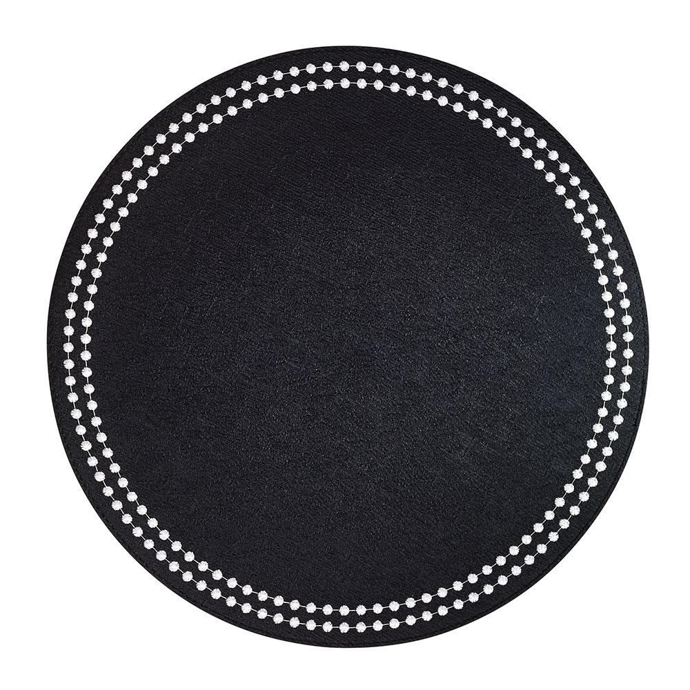 Bodrum Pearls Placemat Black