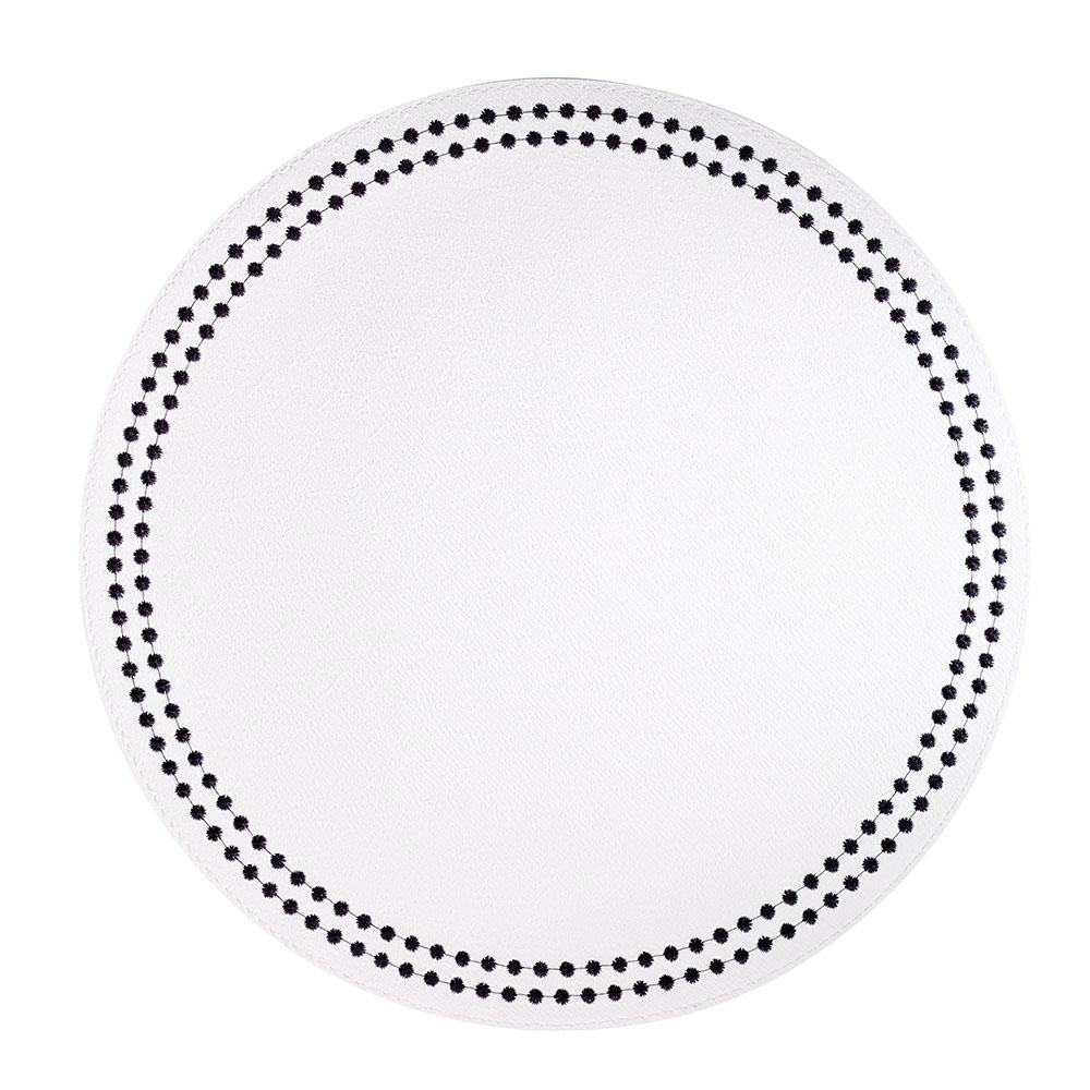 Bodrum Pearls Placemat White with Black