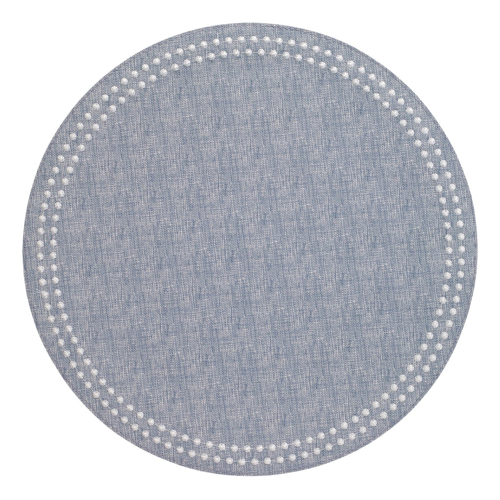 Bodrum Pearls Placemat Bluebell